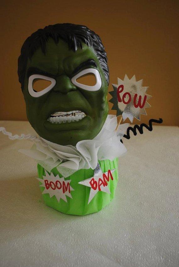Centro de mesa de Hulk