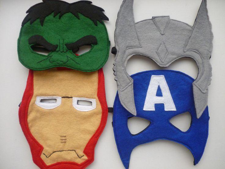 Mascaras vengadores en fieltro